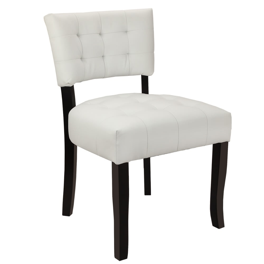 Terrific Homegear Oversized Tufted Faux Leather Accent Chair White Ibusinesslaw Wood Chair Design Ideas Ibusinesslaworg