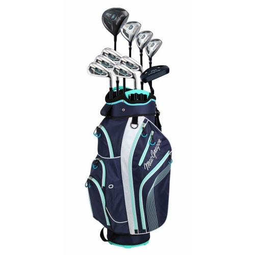 MacGregor DCT2000 Premium Petite Ladies Golf Package Set with Titanium Driver and Stainless Clubs, All Graphite Shafts, Lady Flex