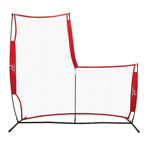 Woodworm Portable Baseball Screen V2 - Pop-Up Pitching Protecting L-Screen Net and Frame