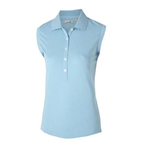 Ashworth Ladies Sleeveless Polo - Baby Blue