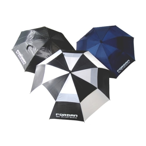 """Forgan Double Canopy 60"""" 3-Pack of Golf Umbrellas"""
