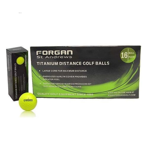 160 Forgan St Andrews TT Golf Balls Yellow