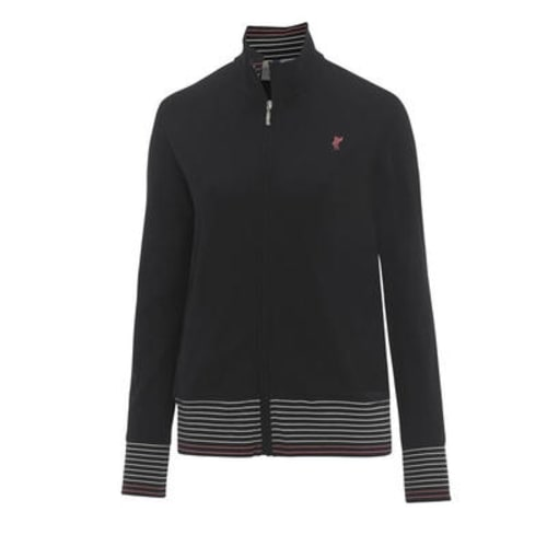 Ashworth Ladies Pique Full Zip Jacket Black