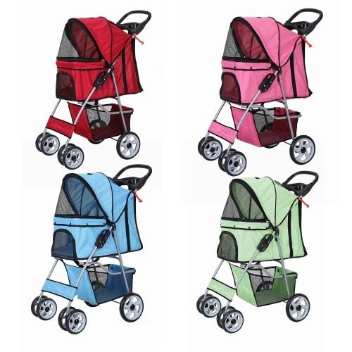 Confidence Deluxe Folding Four Wheel Pet Stroller