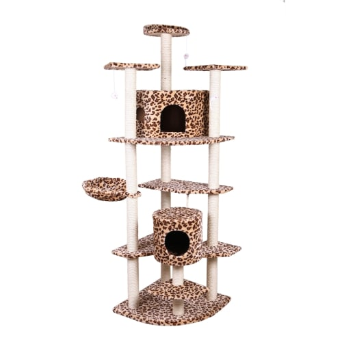 "Confidence Pet 80"" Palace Cat Tree LEOPARD"