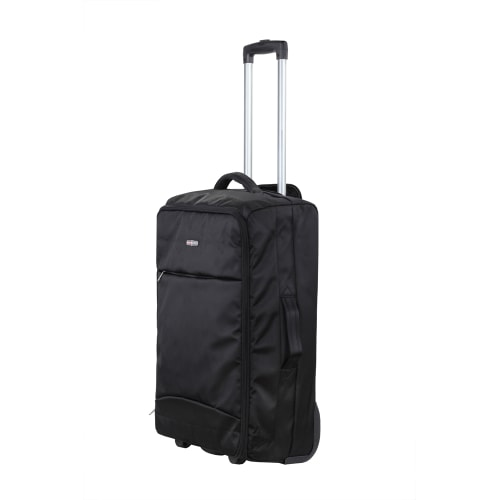 "Swiss Case 24"" Lightweight Folding Suitcase Black"