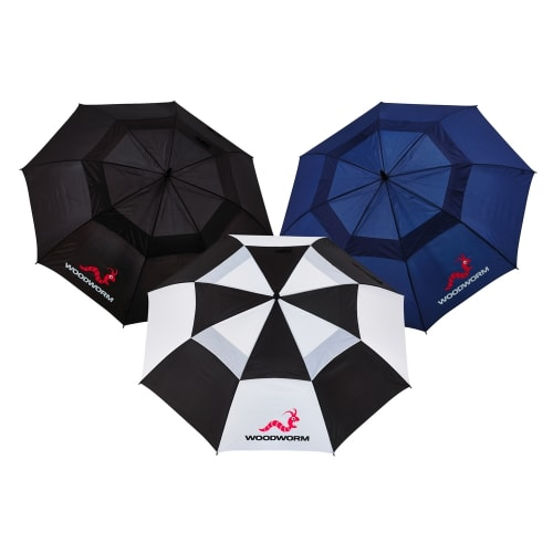 "Woodworm Double Canopy 60"" Golf Umbrella 3 Pack"