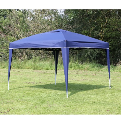 OPEN BOX Palm Springs 10 x 10 EZ Pop Up Gazebo NO SIDEWALLS - Blue