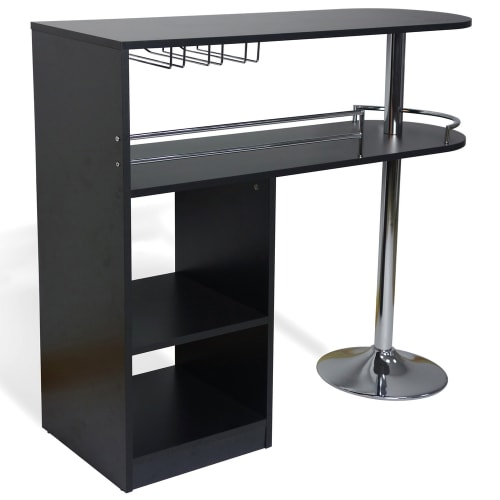 Homegear Kitchen Cocktail Bar Table - Black