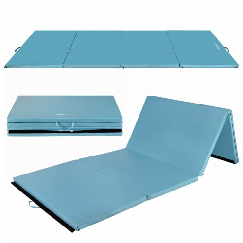 "Confidence 4'x10'x2"" Folding Gym Mat Blue"