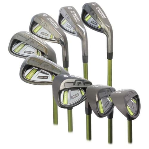 "Forgan of St Andrews IWD2 Black 1.5"" Longer Iron 4-SW Right Hand Set - Graphite Shaft and Regular Flex"
