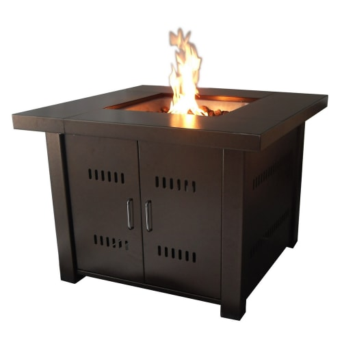 Palm Springs Hammered Bronze Gas Fire Pit