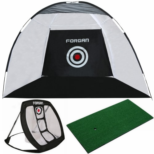 Forgan Golf 3-in-1 Practice Centre with Hitting Net, Chipping Net and Mat