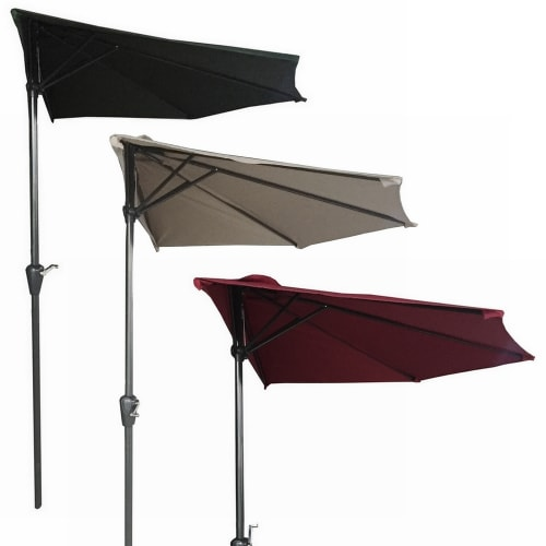 Palm Springs 9ft Half Aluminium Patio Umbrella w/ Tilt