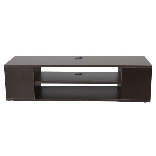 Homegear 1m TV Stand /Bench with Storage, Dark Brown
