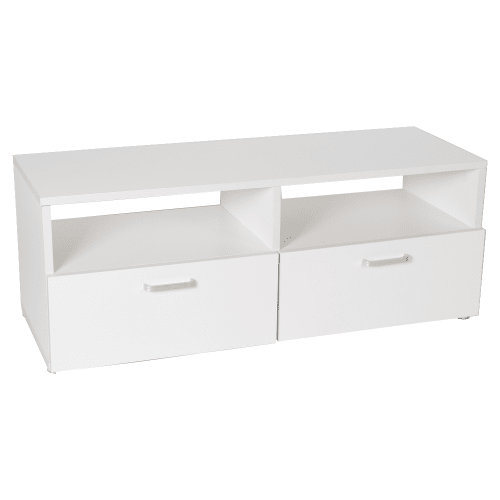 Homegear 1m Wooden TV Stand / Bench with Storage, Oak/White
