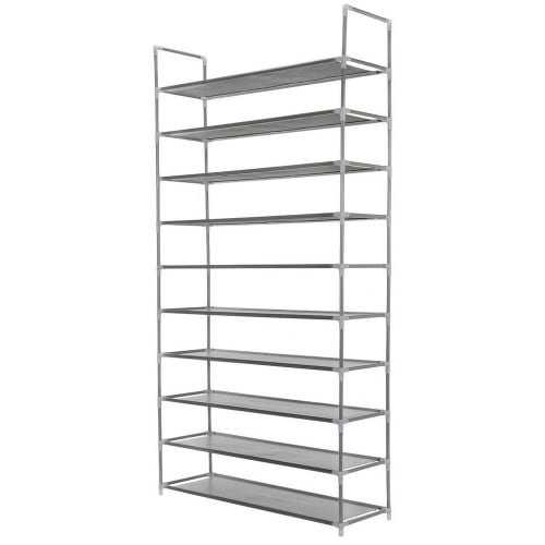 Homegear 10 Tier Free Standing Shoe Rack / Tower / Storage Organizer