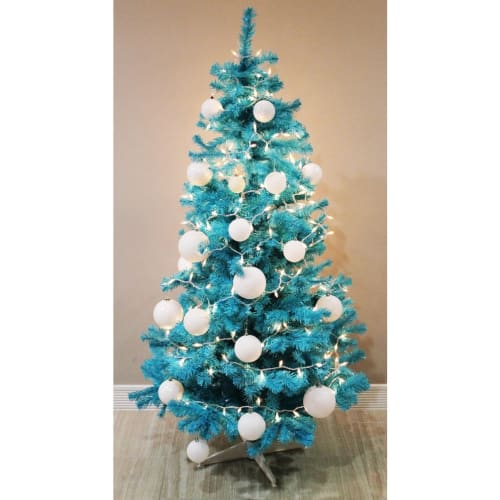 Homegear 6FT Artificial Blue Christmas Tree