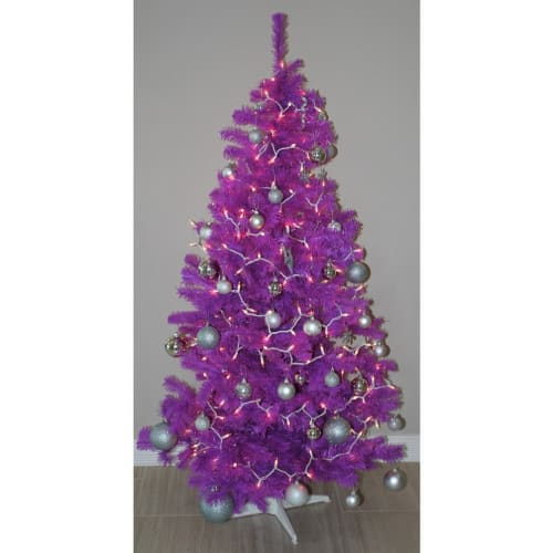 Homegear 6FT Artificial Purple Christmas Tree