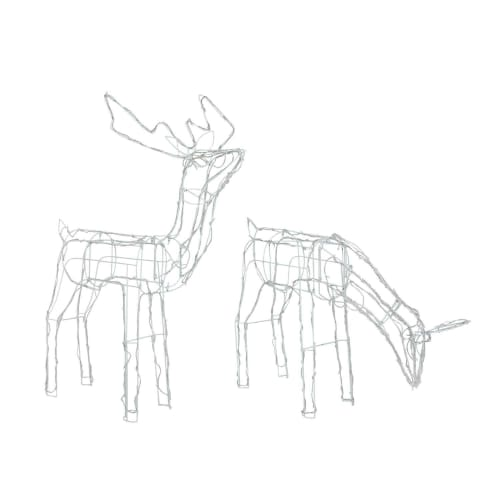 Homegear Christmas Reindeer Lights Pre-Lit Lawn Yard Wire Decoration - 2 Pack - Indoor or Outdoor Use