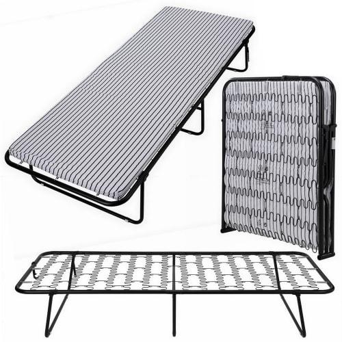 OPEN BOX Homegear Portable Heavy Duty Steel Frame Folding Twin Guest Bed