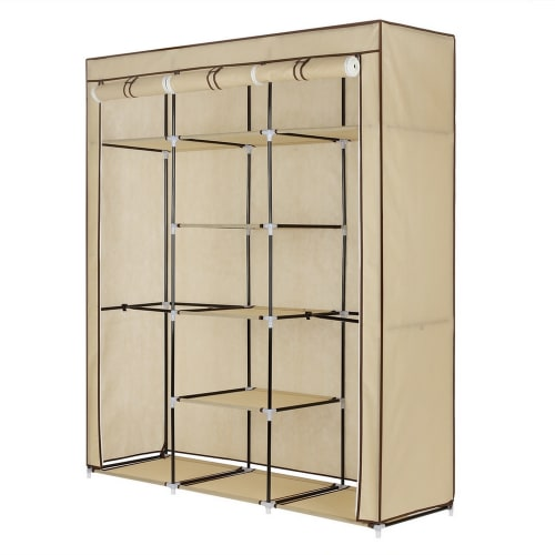 Homegear Triple Fabric Wardrobe