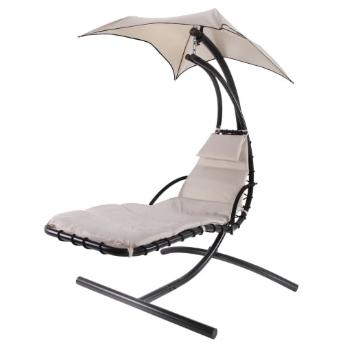 OPEN BOX Palm Springs Outdoor Hanging Chair / Recliner Cream