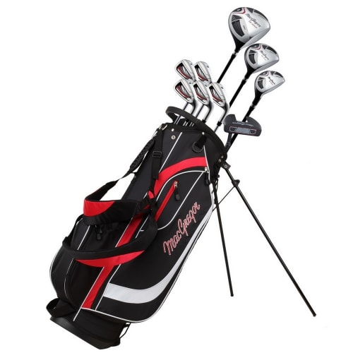 MacGregor Golf CG2000 1 Inch Longer Golf Club Package Set with Stainless Steel Irons, GRAPHITE/STEEL SHAFTS and Stiff Flex