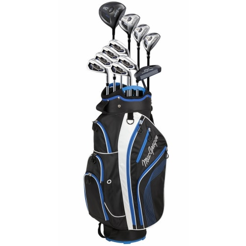 MacGregor DCT2000 Premium Golf Graphite/Steel Package Set with Titanium Driver and Stainless Clubs - Stiff Flex