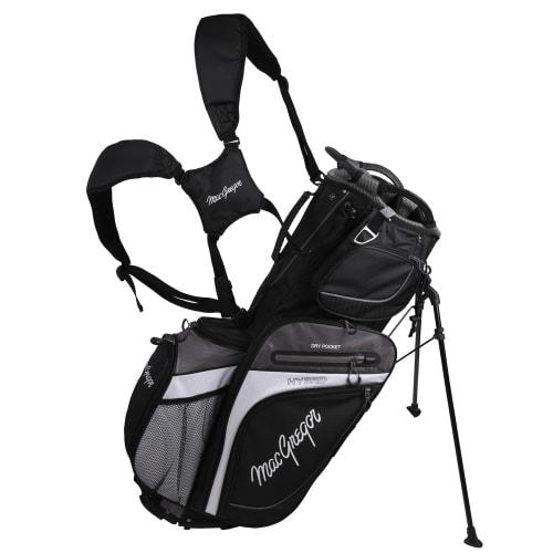 MacGregor Golf Hybrid Stand / Cart Golf Bag with 14 Way Divider, Black/Grey
