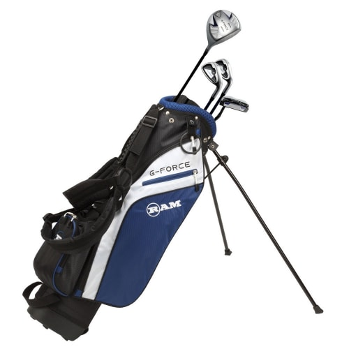 Ram Golf Junior G-Force Boys Golf Clubs Set with Bag - Lefty - Age 4-6