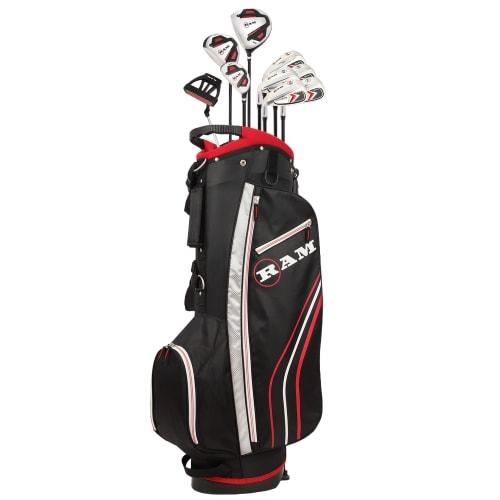 Ram Golf Accubar 12pc Golf Clubs Set - Graphite Shafted Woods and Irons - Mens Left Hand