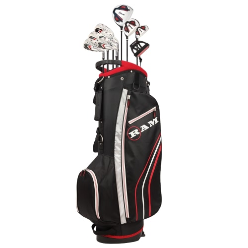 Ram Golf Accubar 12pc Golf Clubs Set - Graphite Shafted Woods, Steel Shafted Irons - Mens Right Hand - Stiff Flex