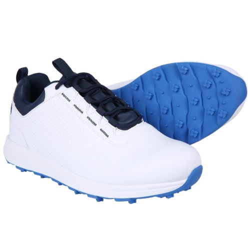Ram Golf Accubar Mens Golf Shoes, White/Blue