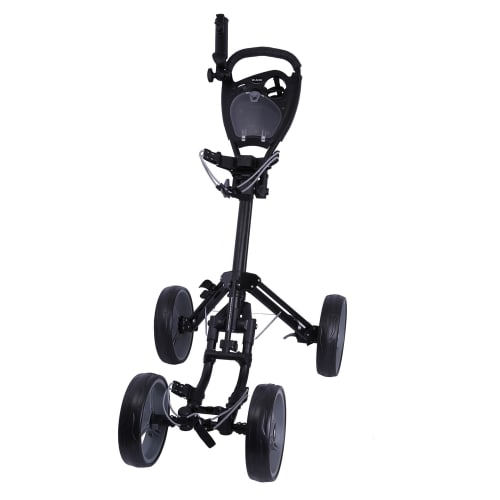 Ram Golf Deluxe FX 4 Wheel Golf Trolley - Black/Silver