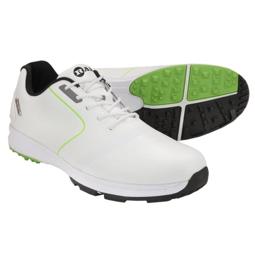 Ram Golf Player Waterproof Mens Golf Shoes - White / Green