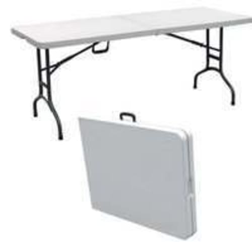 Palm Springs Deluxe 6' Folding Portable Table White