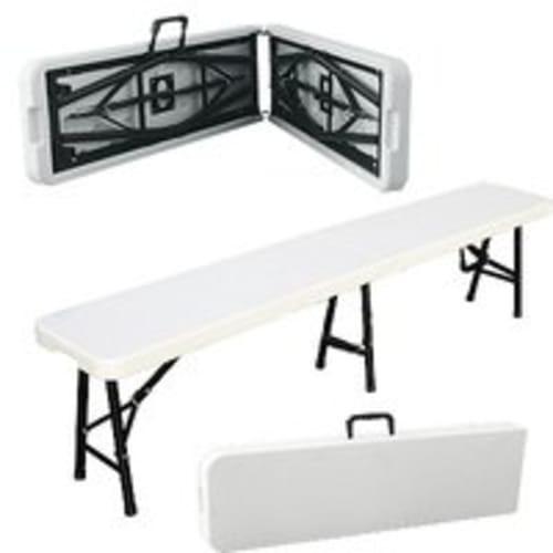 Palm Springs Folding Portable 6' BENCH Steel Frame (Default)