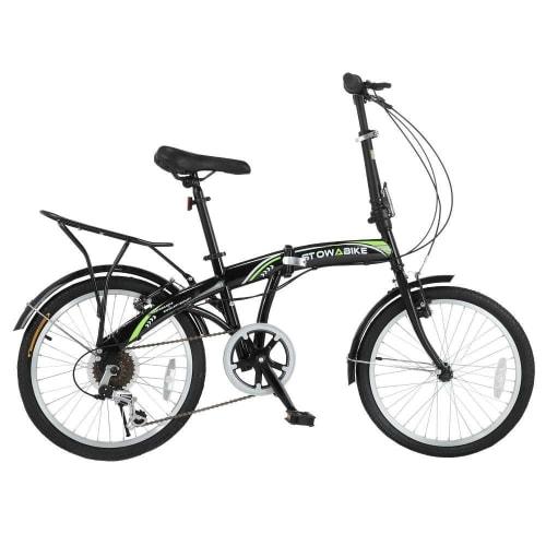 OPEN BOX Stowabike Folding City V3 Compact Bike Black / Green