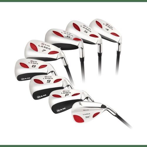 Ram Golf Laser Hybrid Irons Set 4-SW (8 Clubs) - Mens Left Hand - Graphite