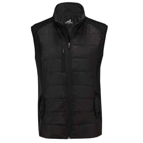Woodworm Full Zip Padded Mens Gilet Golf Vest - Windproof - Black