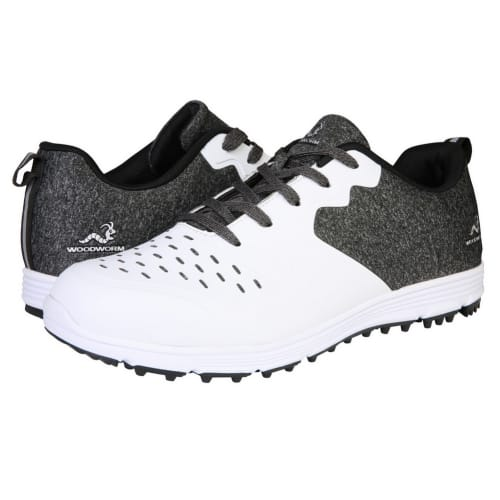 Woodworm Golf Sense Spikeless Golf Shoes, Mens, White/Black