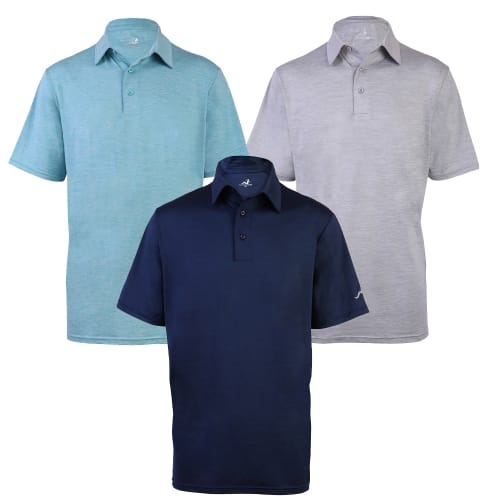 Woodworm Golf Ultimate Heather Golf Polo Shirt 3 Pack