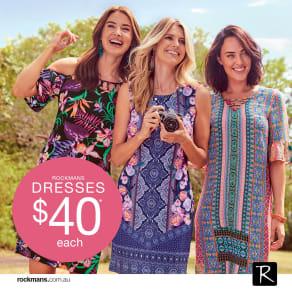 All Rockmans dresses $40 each
