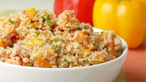 Colorful vegetable and quinoa salad