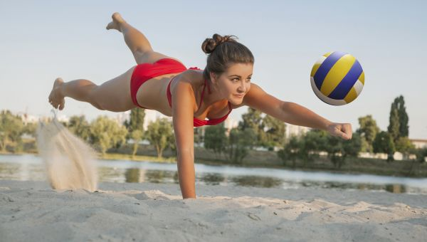 Beach volleyball torches about 800 calories
