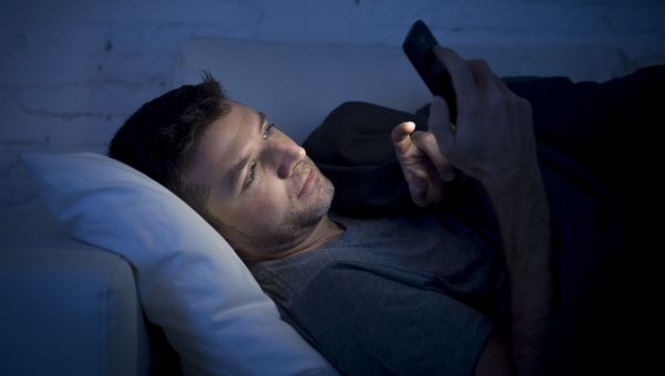 3. Scrolling before bed