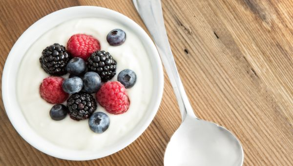 98. Berries and yogurt
