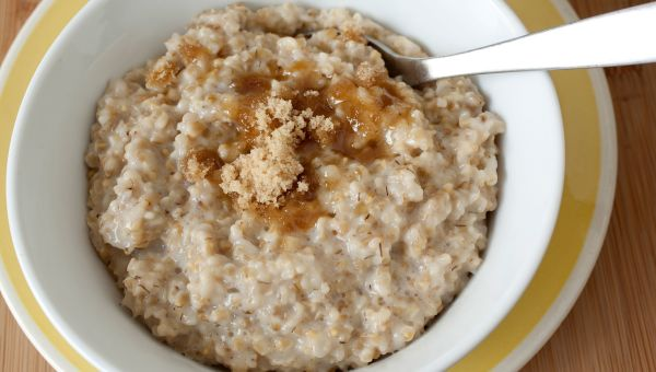 54. Oatmeal with cinnamon, brown sugar and honey