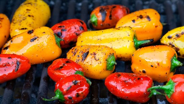 95. Grilled balsamic peppers